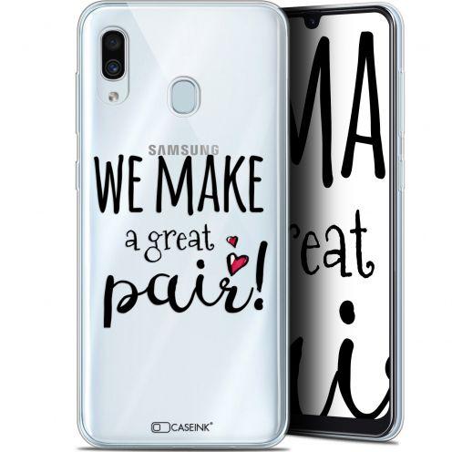 "Carcasa Gel Extra Fina Samsung Galaxy A30 (6.4"") Love We Make Great Pair"