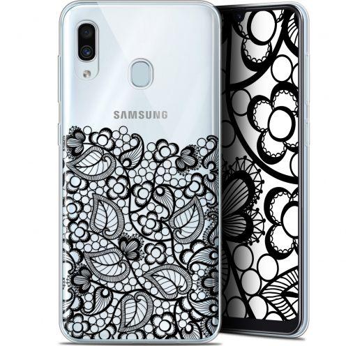 """Carcasa Gel Extra Fina Samsung Galaxy A30 (6.4"""") Spring Bas dentelle Noir"""
