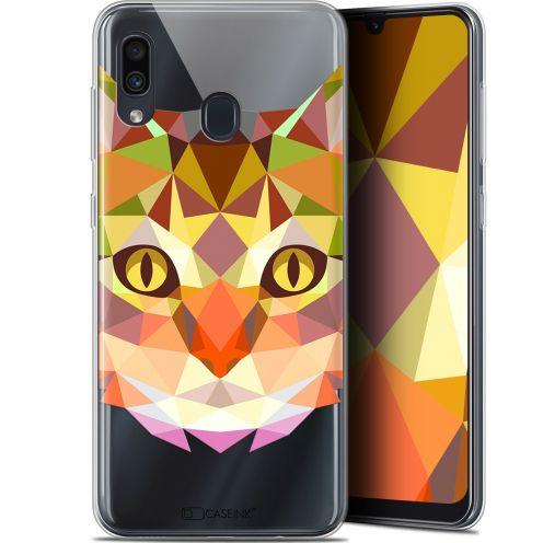 "Carcasa Gel Extra Fina Samsung Galaxy A30 (6.4"") Polygon Animals Gato"