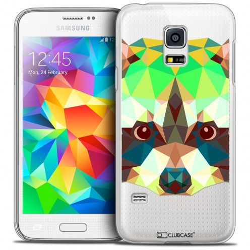 Carcasa Crystal Extra Fina Galaxy S5 Mini Polygon Animals Mapache