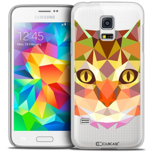 Carcasa Crystal Extra Fina Galaxy S5 Mini Polygon Animals Gato