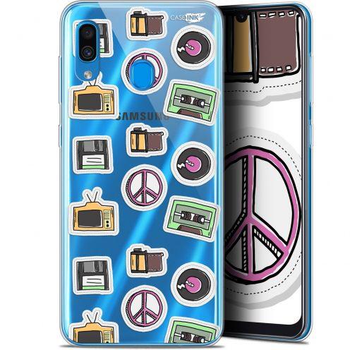 "Carcasa Gel Extra Fina Samsung Galaxy A30 (6.4"") Design Vintage Stickers"