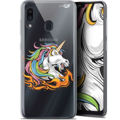 "Carcasa Gel Extra Fina Samsung Galaxy A30 (6.4"") Design Licorne de Feu"