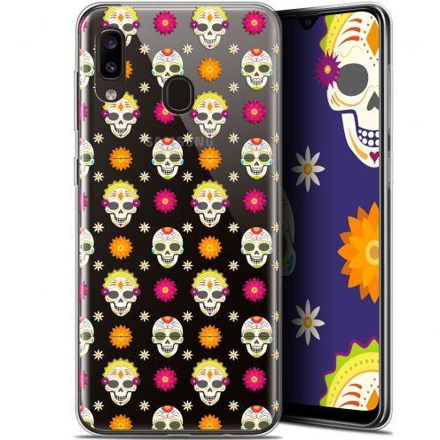 """Carcasa Gel Extra Fina Samsung Galaxy A20 (6.4"""") Halloween Skull Halloween"""