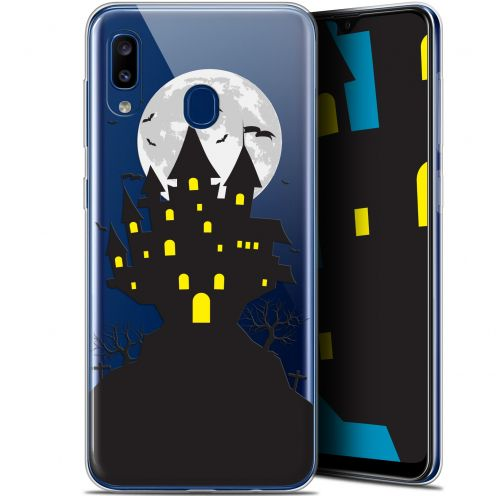 "Carcasa Gel Extra Fina Samsung Galaxy A20 (6.4"") Halloween Castle Scream"