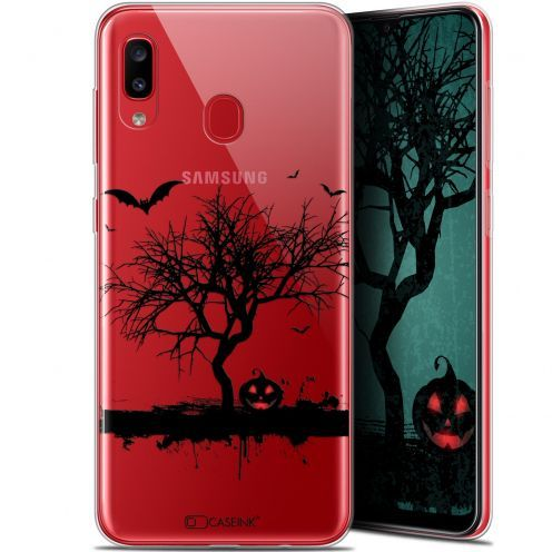 "Carcasa Gel Extra Fina Samsung Galaxy A20 (6.4"") Halloween Devil's Tree"