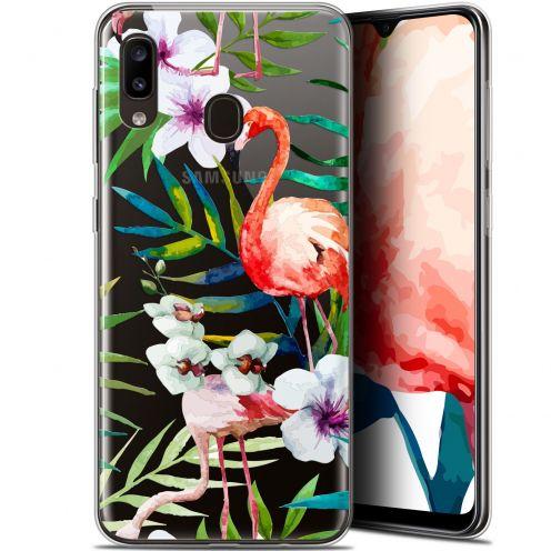 "Carcasa Gel Extra Fina Samsung Galaxy A20 (6.4"") Watercolor Tropical Flamingo"