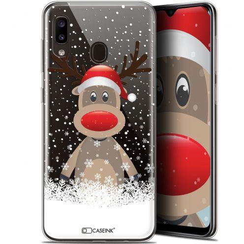 """Carcasa Gel Extra Fina Samsung Galaxy A20 (6.4"""") Noël 2017 Cerf au Bonnet"""