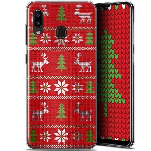 "Carcasa Gel Extra Fina Samsung Galaxy A20 (6.4"") Noël 2017 Couture Rouge"