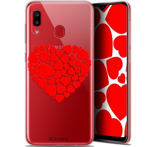 "Carcasa Gel Extra Fina Samsung Galaxy A20 (6.4"") Love Coeur des Coeurs"