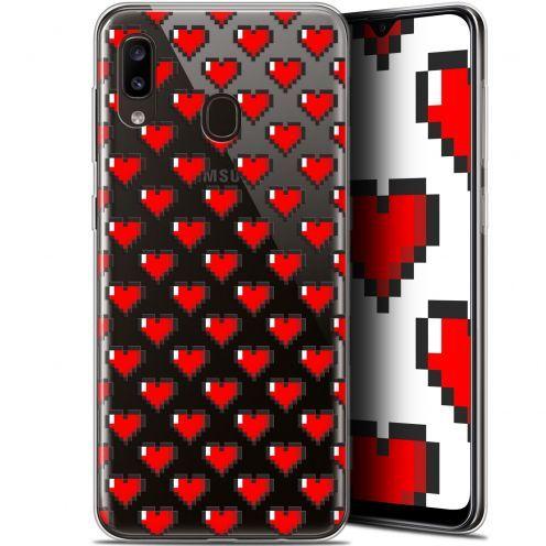 """Carcasa Gel Extra Fina Samsung Galaxy A20 (6.4"""") Love Pixel Art"""