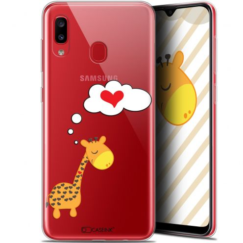 "Carcasa Gel Extra Fina Samsung Galaxy A20 (6.4"") Love Girafe Amoureuse"
