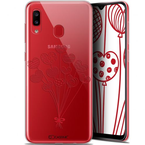 "Carcasa Gel Extra Fina Samsung Galaxy A20 (6.4"") Love Ballons d'amour"