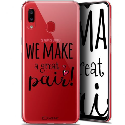"Carcasa Gel Extra Fina Samsung Galaxy A20 (6.4"") Love We Make Great Pair"