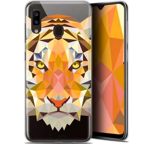 "Carcasa Gel Extra Fina Samsung Galaxy A20 (6.4"") Polygon Animals Tigre"
