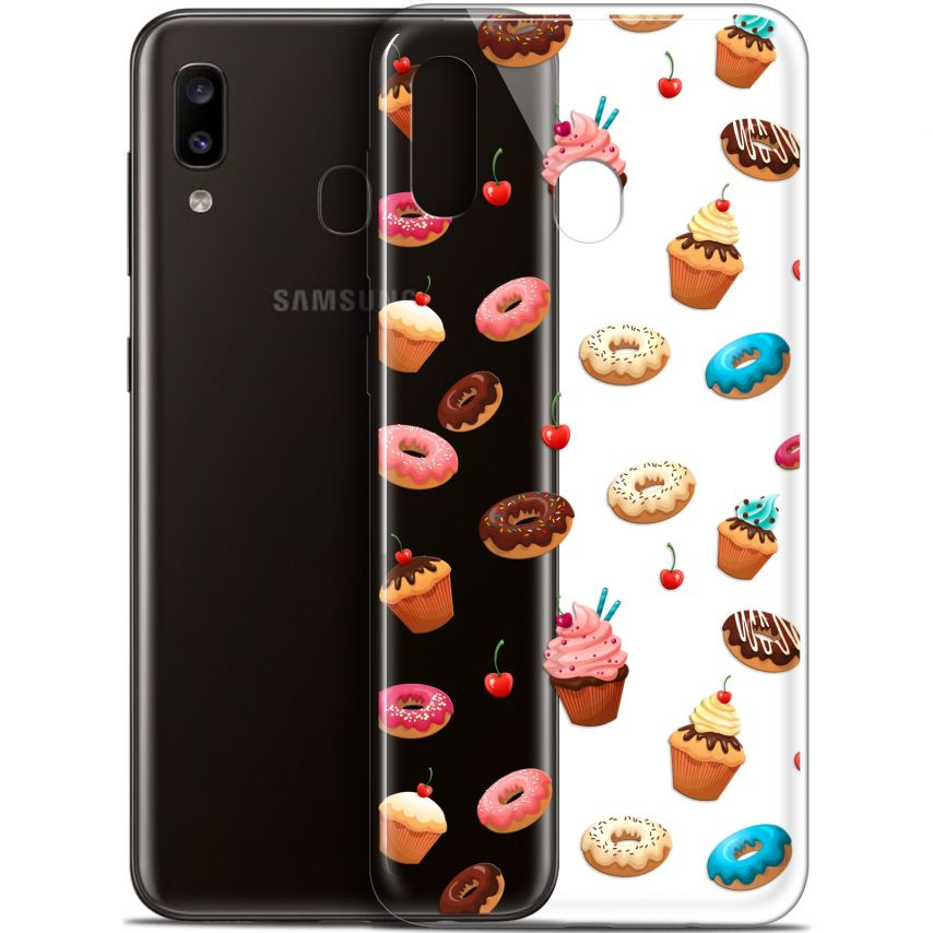 "Carcasa Gel Extra Fina Samsung Galaxy A20 (6.4"") Foodie Donuts"