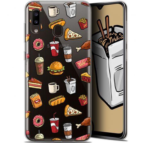"""Carcasa Gel Extra Fina Samsung Galaxy A20 (6.4"""") Foodie Fast Food"""