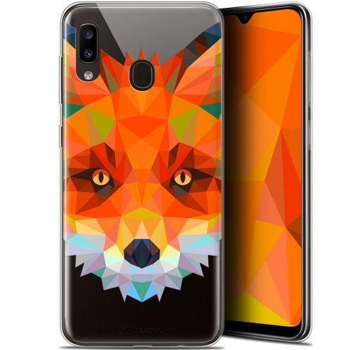 "Carcasa Gel Extra Fina Samsung Galaxy A20 (6.4"") Polygon Animals Zorro"