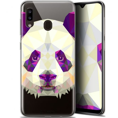 "Carcasa Gel Extra Fina Samsung Galaxy A20 (6.4"") Polygon Animals Panda"