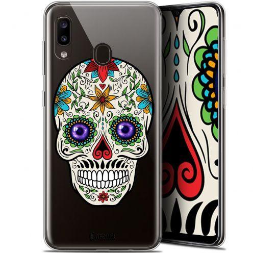 "Carcasa Gel Extra Fina Samsung Galaxy A20 (6.4"") Skull Maria's Flower"