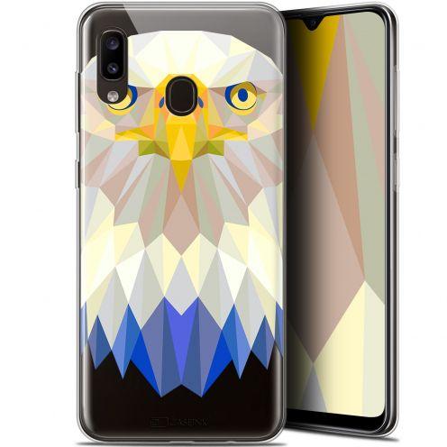 "Carcasa Gel Extra Fina Samsung Galaxy A20 (6.4"") Polygon Animals Águila"