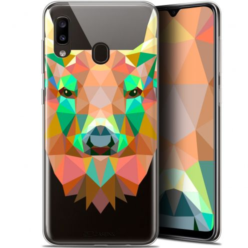 "Carcasa Gel Extra Fina Samsung Galaxy A20 (6.4"") Polygon Animals Ciervo"