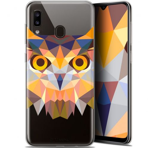 "Carcasa Gel Extra Fina Samsung Galaxy A20 (6.4"") Polygon Animals Búho"