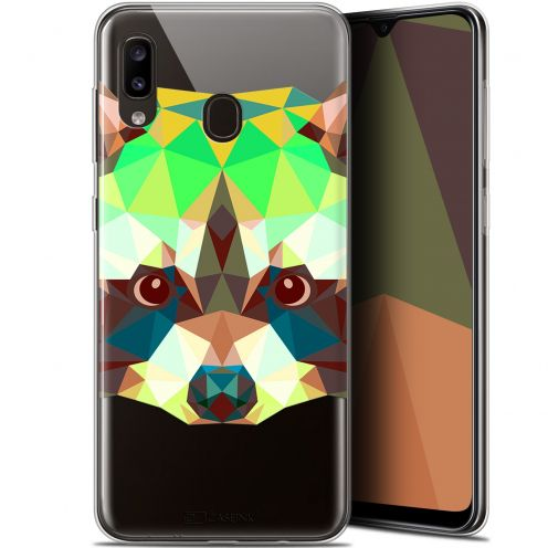 "Carcasa Gel Extra Fina Samsung Galaxy A20 (6.4"") Polygon Animals Raton Laveur"