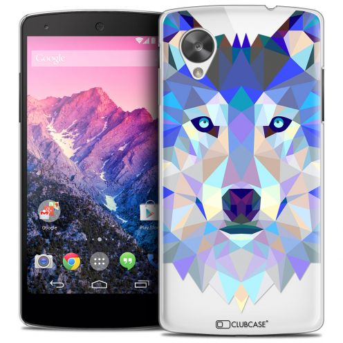 Carcasa Crystal Extra Fina Nexus 5 Polygon Animals Lobo