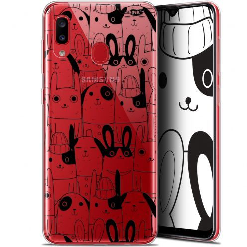 """Carcasa Gel Extra Fina Samsung Galaxy A20 (6.4"""") Design Lapin Noir"""