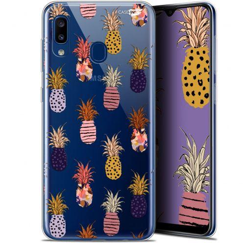 "Carcasa Gel Extra Fina Samsung Galaxy A20 (6.4"") Design Ananas Gold"