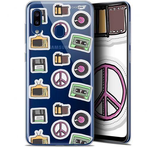 "Carcasa Gel Extra Fina Samsung Galaxy A20 (6.4"") Design Vintage Stickers"