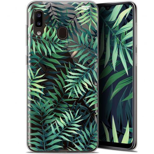 """Carcasa Gel Extra Fina Samsung Galaxy A20 (6.4"""") Design Feuilles des Tropiques"""