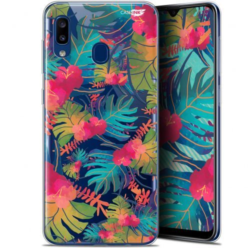 "Carcasa Gel Extra Fina Samsung Galaxy A20 (6.4"") Design Couleurs des Tropiques"