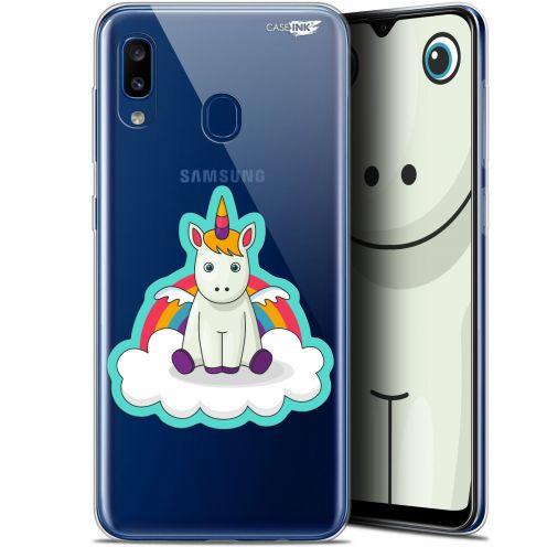 """Carcasa Gel Extra Fina Samsung Galaxy A20 (6.4"""") Design Bébé Licorne"""