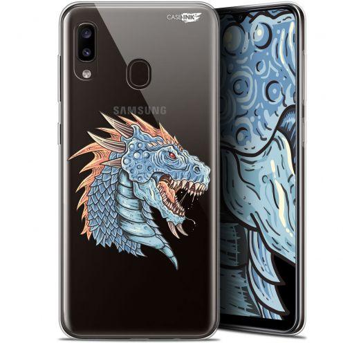 """Carcasa Gel Extra Fina Samsung Galaxy A20 (6.4"""") Design Dragon Draw"""