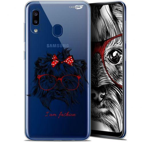 """Carcasa Gel Extra Fina Samsung Galaxy A20 (6.4"""") Design Fashion Dog"""