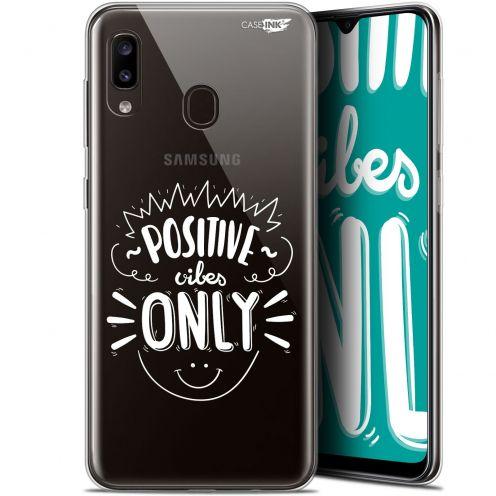 "Carcasa Gel Extra Fina Samsung Galaxy A20 (6.4"") Design Positive Vibes Only"