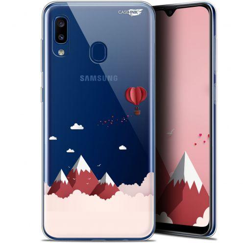 "Carcasa Gel Extra Fina Samsung Galaxy A20 (6.4"") Design Montagne En Montgolfière"
