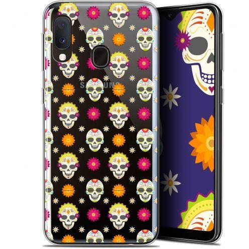 "Carcasa Gel Extra Fina Samsung Galaxy A20E (5.8"") Halloween Skull Halloween"