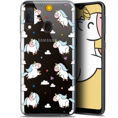 "Carcasa Gel Extra Fina Samsung Galaxy A20E (5.8"") Fantasia Licorne In the Sky"