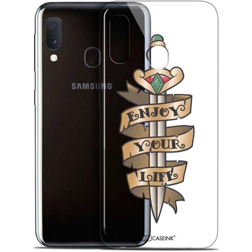 "Carcasa Gel Extra Fina Samsung Galaxy A20E (5.8"") Tatoo Lover Enjoy Life"