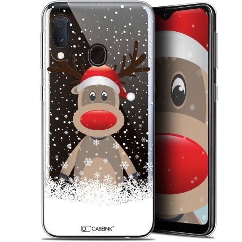 "Carcasa Gel Extra Fina Samsung Galaxy A20E (5.8"") Noël 2017 Cerf au Bonnet"