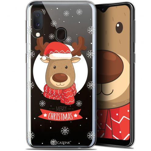 """Carcasa Gel Extra Fina Samsung Galaxy A20E (5.8"""") Noël 2017 Cerf à Echarpe"""