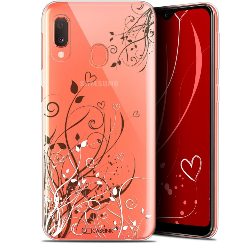 "Carcasa Gel Extra Fina Samsung Galaxy A20E (5.8"") Love Hearts Flowers"