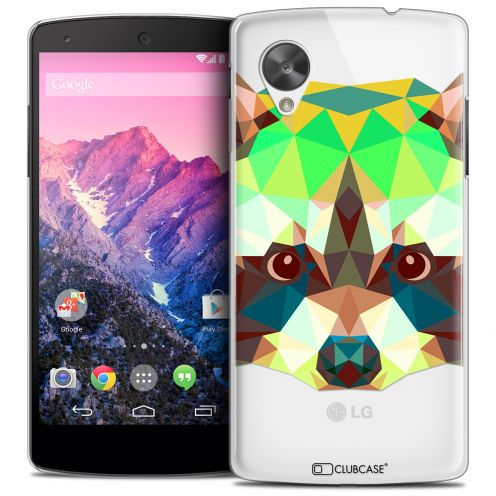 Carcasa Crystal Extra Fina Nexus 5 Polygon Animals Mapache