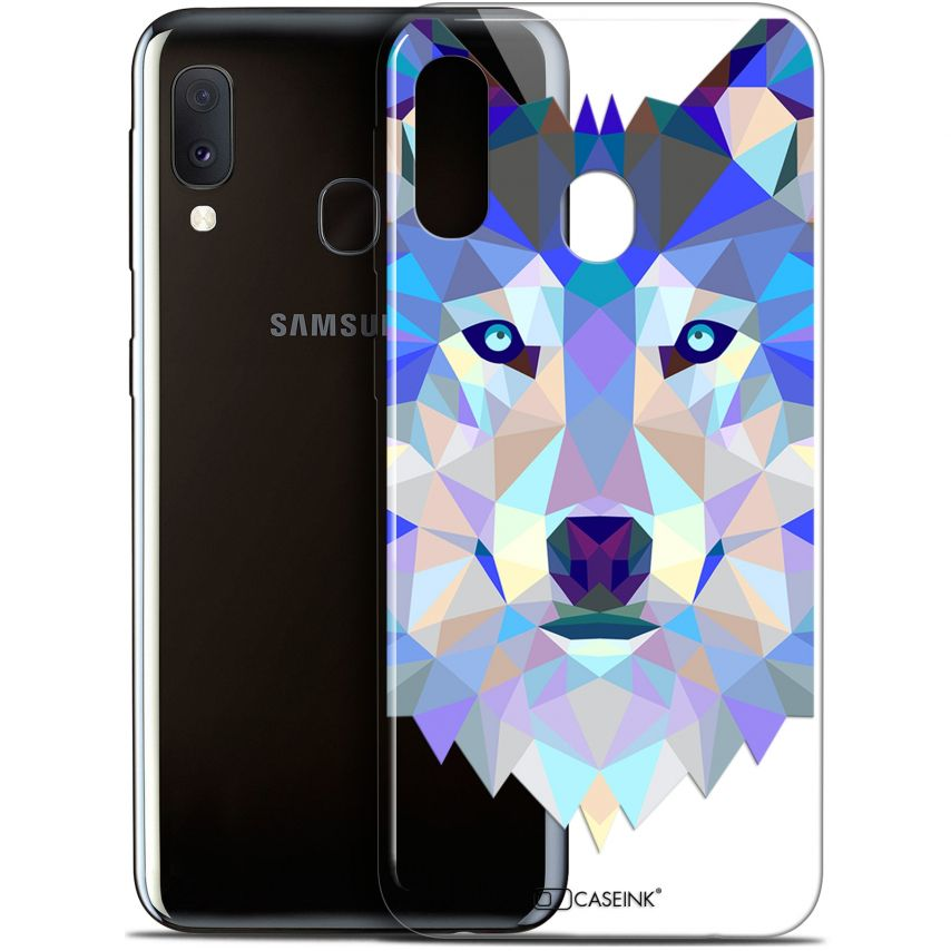 "Carcasa Gel Extra Fina Samsung Galaxy A20E (5.8"") Polygon Animals Lobo"