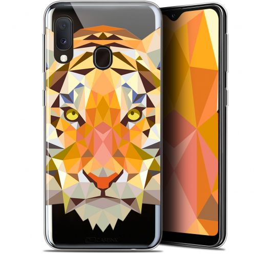 "Carcasa Gel Extra Fina Samsung Galaxy A20E (5.8"") Polygon Animals Tigre"