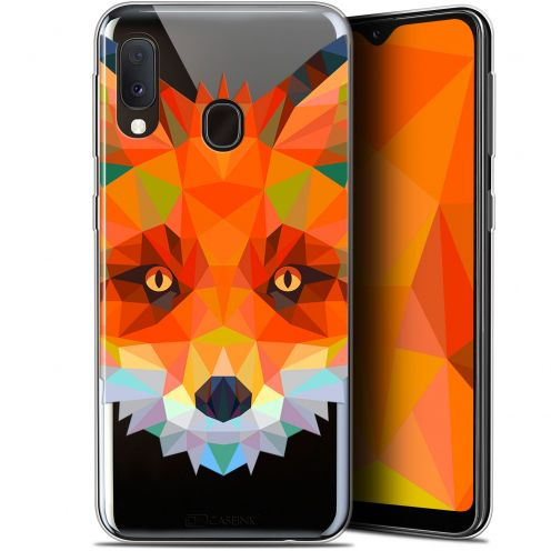 "Carcasa Gel Extra Fina Samsung Galaxy A20E (5.8"") Polygon Animals Zorro"