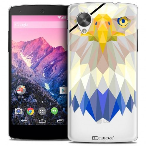 Carcasa Crystal Extra Fina Nexus 5 Polygon Animals Águila
